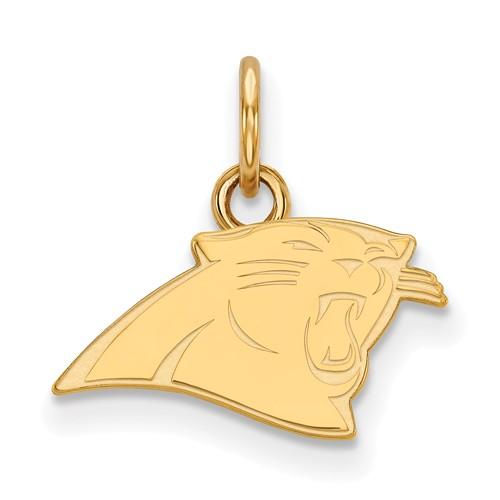 10k Yellow Gold 3/8in Carolina Panthers Logo Charm