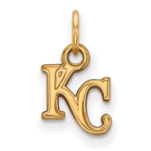 10kt Yellow Gold 3/8in Kansas City Royals KC Pendant