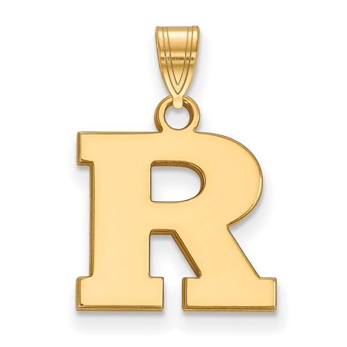 14k Yellow Gold Rutgers University R Charm 1/2in
