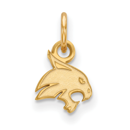 Texas State University Charm 3/8in 10k Yellow Gold