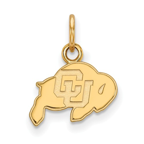 University of Colorado Buffalo Charm 3/8in 10k Yellow Gold
