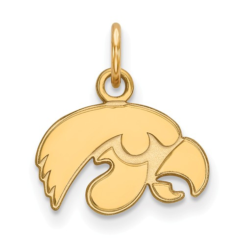 University of Iowa Charm 3/8in 10k Yellow Gold