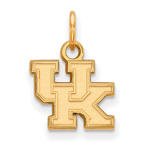 10kt Yellow Gold 3/8in University of Kentucky UK Charm