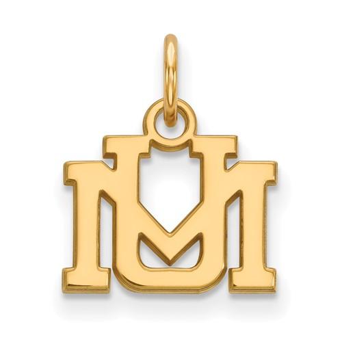 10k Yellow Gold 3/8in University of Montana Charm