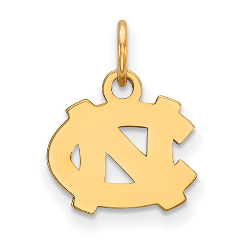 14kt Yellow Gold 3/8in University of North Carolina NC Pendant
