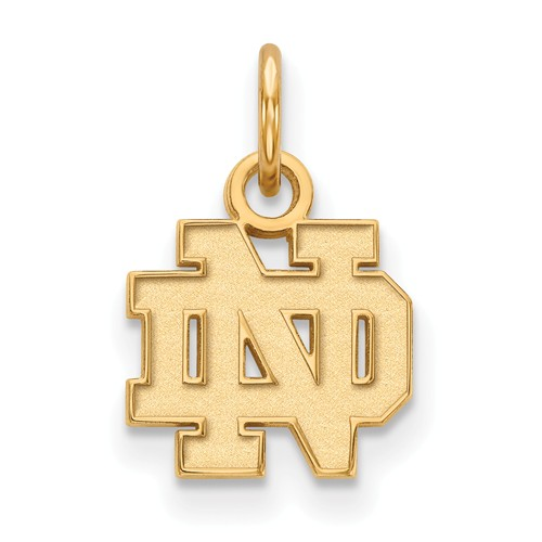 14k Yellow Gold 3/8in University of Notre Dame ND Pendant
