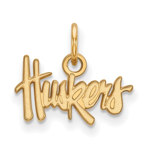 10kt Yellow Gold 3/8in University of Nebraska Huskers Pendant