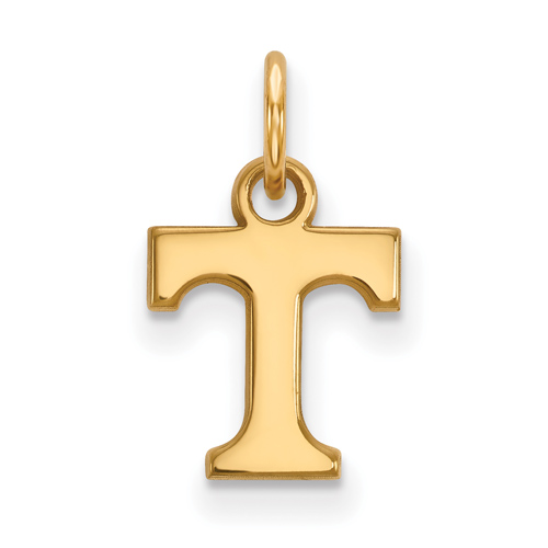 14kt Yellow Gold 3/8in University of Tennessee T Pendant