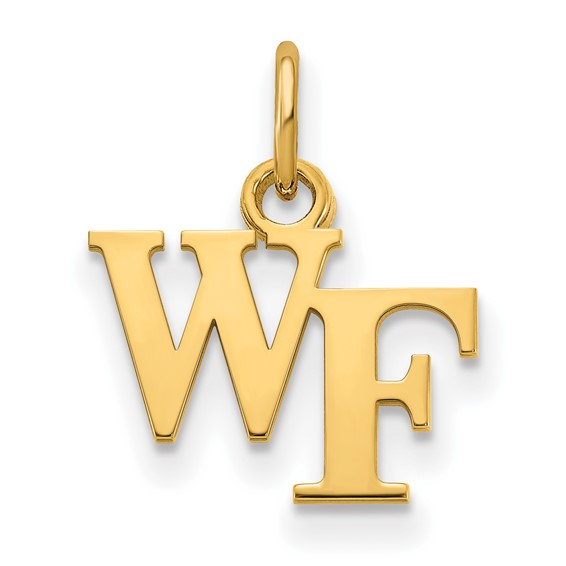 Wake Forest University Charm 3/8in 10k Yellow Gold
