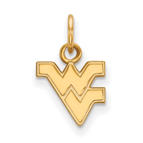 14kt Yellow Gold 3/8in West Virginia University WV Pendant
