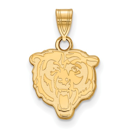 10k Yellow Gold 5/8in Chicago Bears Pendant