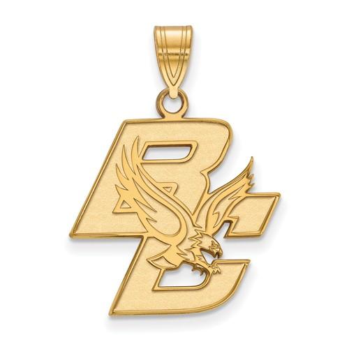 14k Yellow Gold Boston College BC Pendant 3/4in