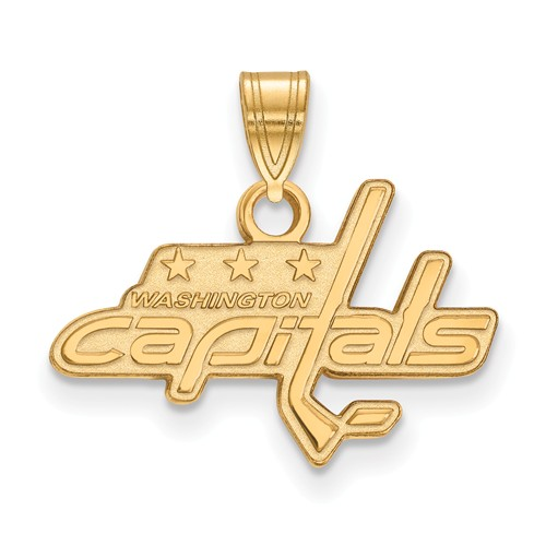 10k Yellow Gold 1/2in Washington Capitals Pendant