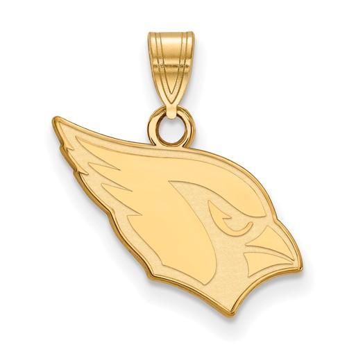 10k Yellow Gold Small Arizona Cardinals Pendant