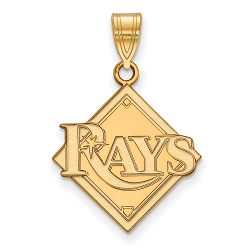 10k Yellow Gold 3/4in Tampa Bay Rays Logo Pendant