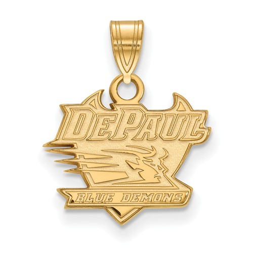 DePaul University Pendant 1/2in 14k Yellow Gold