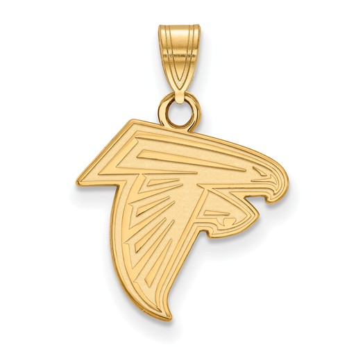 14k Yellow Gold 5/8in Atlanta Falcons Pendant