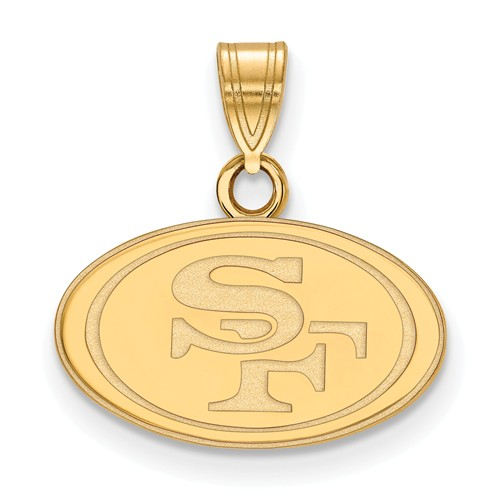 14k Yellow Gold 1/2in San Francisco 49ers Pendant