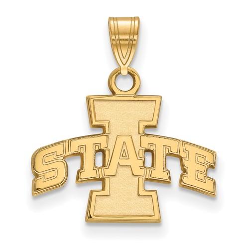 Iowa State University Pendant 1/2in 14k Yellow Gold