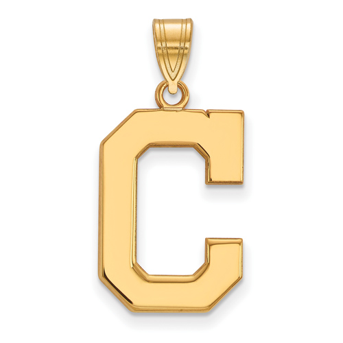 14k Yellow Gold 3/4in Cleveland Indians C Pendant