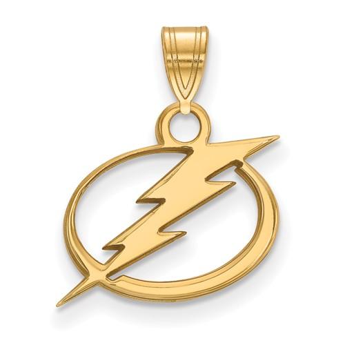 10k Yellow Gold 1/2in Tampa Bay Lightning Pendant