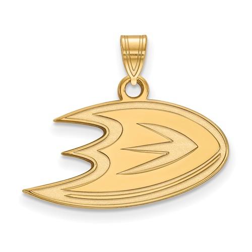 10k Yellow Gold Anaheim Ducks Pendant 1/2in