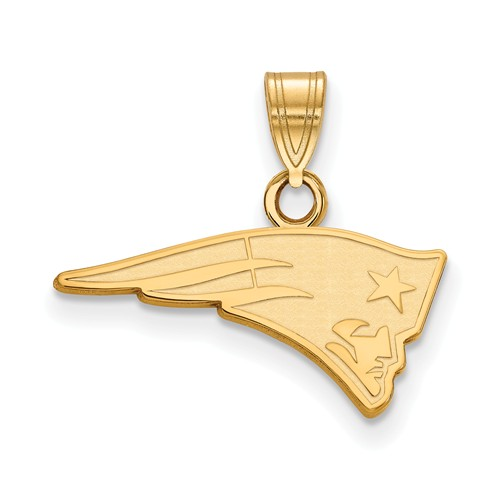 10k Yellow Gold 3/4in New England Patriots Pendant