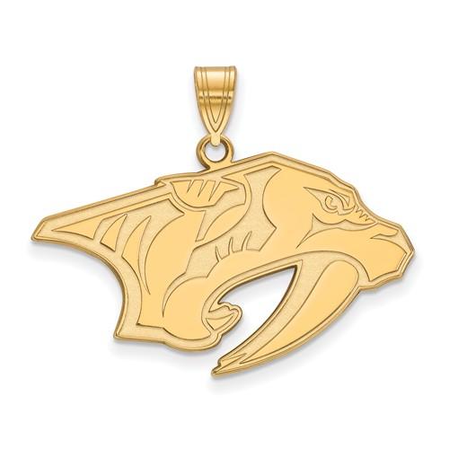 14k Yellow Gold 3/4in Nashville Predators Pendant
