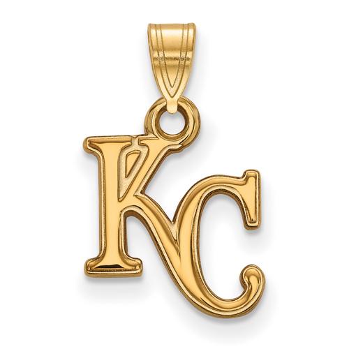 10kt Yellow Gold 5/8in Kansas City Royals KC Pendant
