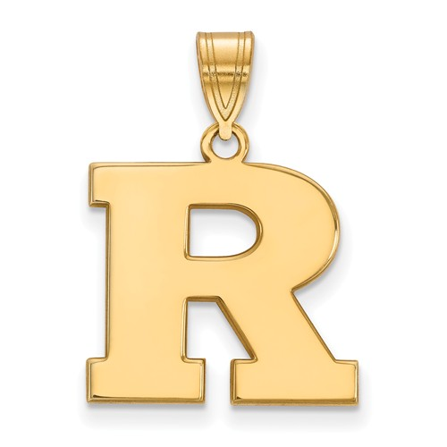 14k Yellow Gold Rutgers University R Pendant 5/8in