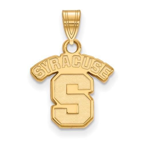 Syracuse University Logo Charm 1/2in 10k Yellow Gold