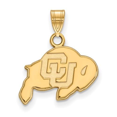 University of Colorado Buffalo Pendant 1/2in 10k Yellow Gold