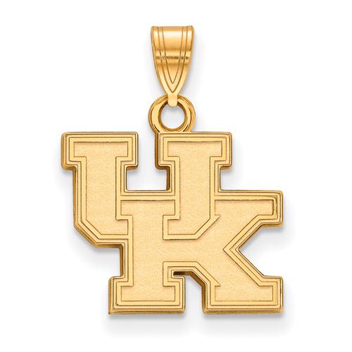 10kt Yellow Gold 1/2in University of Kentucky UK Pendant