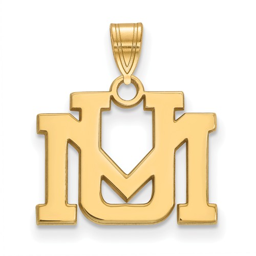 University of Montana UM Pendant 1/2in 10k Yellow Gold