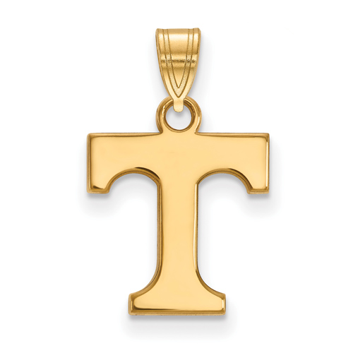 14kt Yellow Gold 1/2in University of Tennessee T Pendant