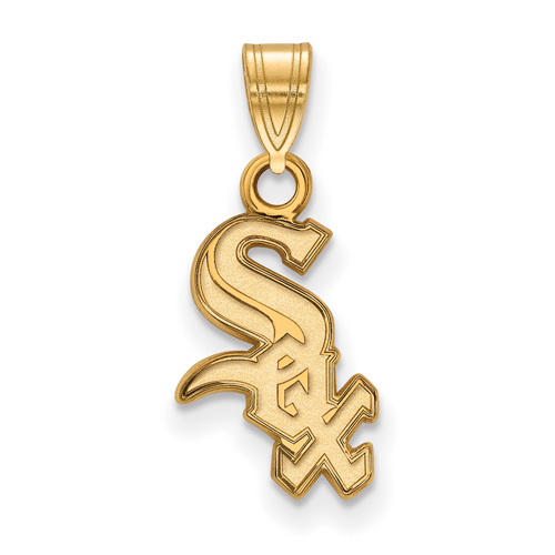 10kt Yellow Gold 1/2in Chicago White Sox Pendant