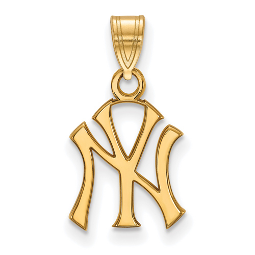 10kt Yellow Gold 1/2in New York Yankees Pendant