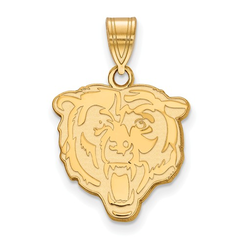14k Yellow Gold 3/4in Chicago Bears Pendant