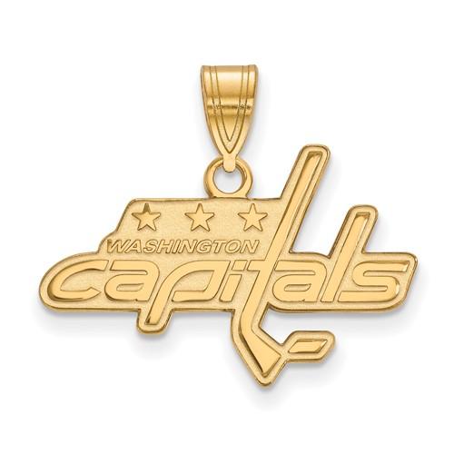 10k Yellow Gold 5/8in Washington Capitals Pendant
