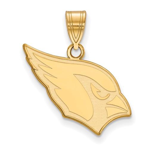 14k Yellow Gold 5/8in Arizona Cardinals Pendant
