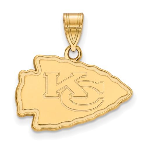 10k Yellow Gold 5/8in Kansas City Chiefs Pendant