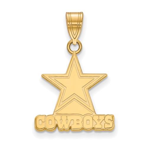 10k Yellow Gold Small Dallas Cowboys Pendant