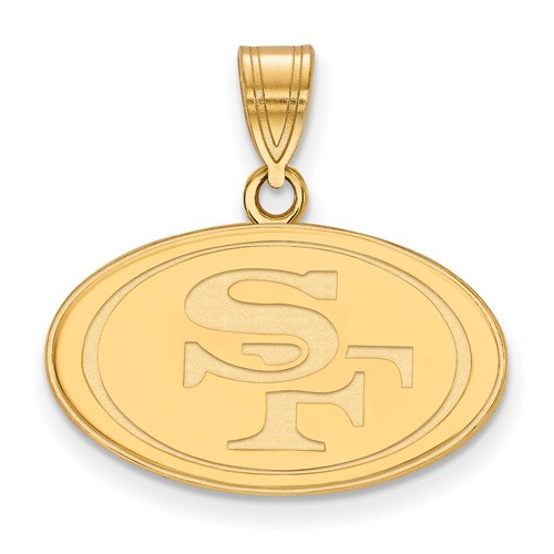 10k Yellow Gold 5/8in San Francisco 49ers Pendant