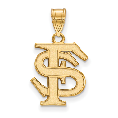 10kt Yellow Gold 5/8in Florida State University FS Pendant