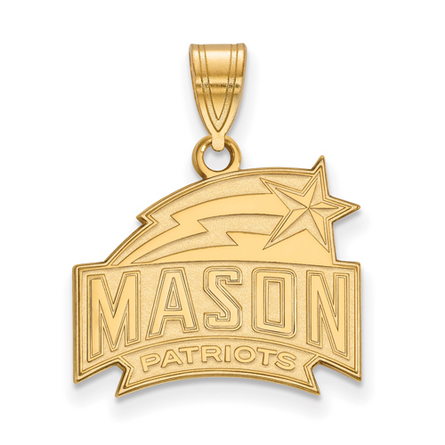 10k Yellow Gold 5/8in George Mason University Patriots Pendant