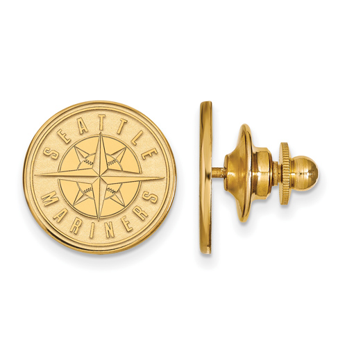 14k Yellow Gold Seattle Mariners Lapel Pin