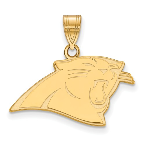 14k Yellow Gold 5/8in Carolina Panthers Pendant