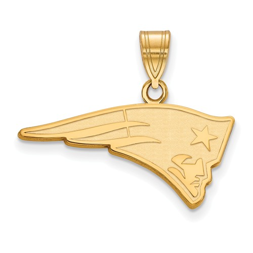 10k Yellow Gold 1in New England Patriots Pendant