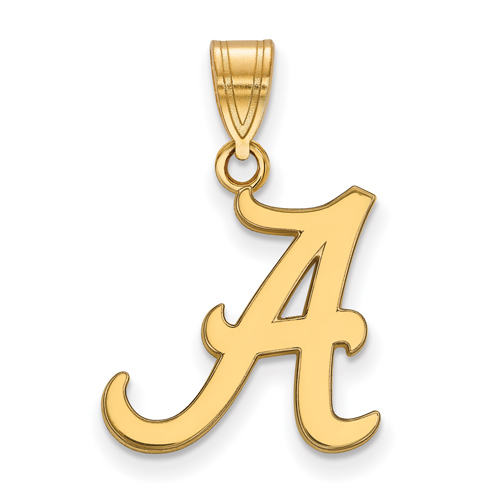 14kt Yellow Gold 5/8in University of Alabama A Pendant