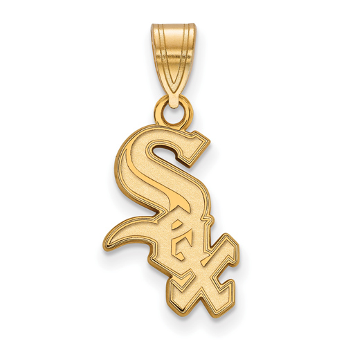 10kt Yellow Gold 5/8in Chicago White Sox Logo Pendant